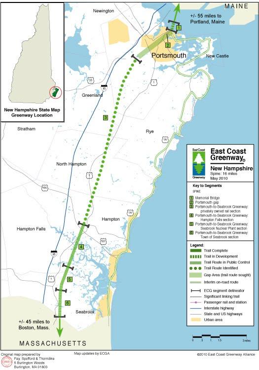 NH Seacoast Greenway Seabrook Rail Trail